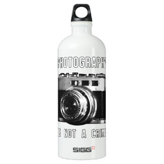 Photography is not a crime. water bottle