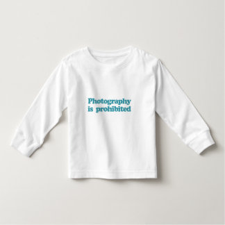 Photography is Prohibited Toddler T-shirt