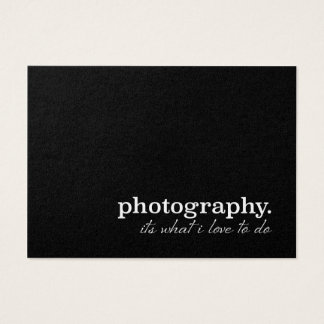 Photography it's what I love to do !! Pearl Custum Business Card