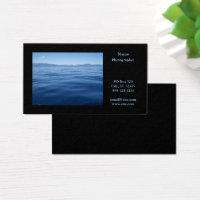 Photography Landscape Horizontal Black Business Card