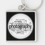 Photography Lingo Black and White Keychain