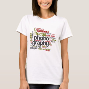Photography Lingo Text Collage T-Shirt