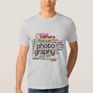 Photography Lingo Text Collage T Shirts