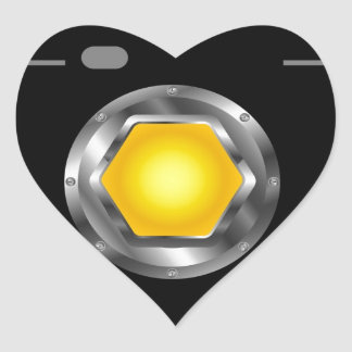Photography logo with yellow aperture heart sticker