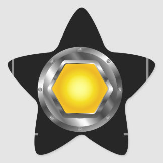 Photography logo with yellow aperture star sticker