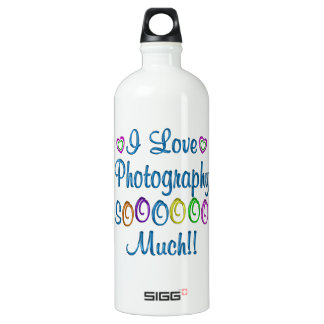 Photography Love So Much Aluminum Water Bottle