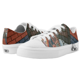 Photography - MIXED STONE WALL + your ideas Low-Top Sneakers