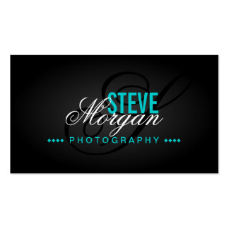 Photography Monogram Business Cards