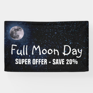 Photography - Night Sky with Full Moon + your idea Banner