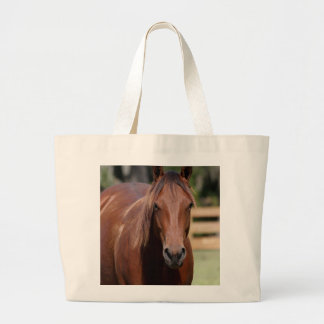 Photography of chestnut Horse on tote bag