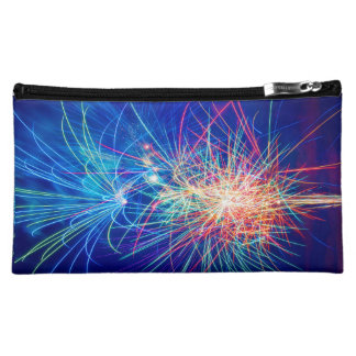 Photography of fireworks when exploding cosmetic bag