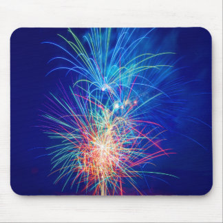 Photography of fireworks when exploding mouse pad