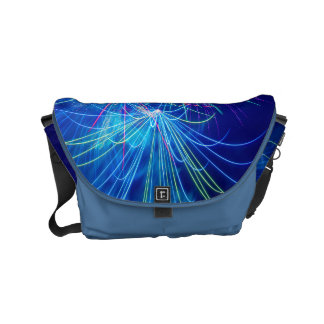 Photography of fireworks when exploding small messenger bag