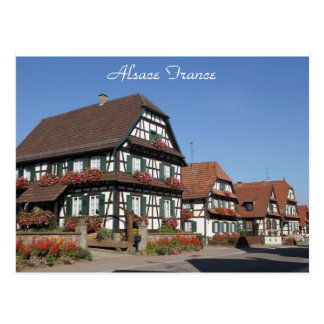 Photography of Half Timbered Houses Alsace France Postcard