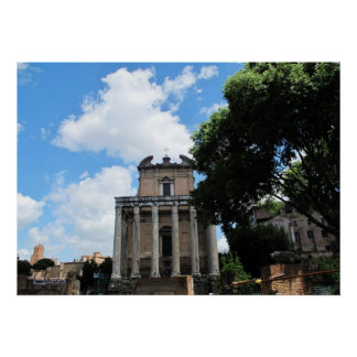 Photography of Italy, Rome, Roman Forum Poster