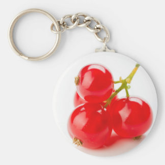 Photography of mature red currants and with much keychain