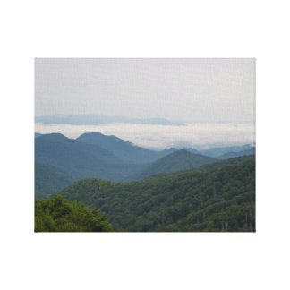 """Photography of The Great Smoky Mountains-""""Smoke"""" Canvas Print"""