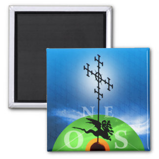 Photography of Vane Spain architecture 2 Inch Square Magnet