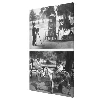 Photography on the Common and Waiting for Hire, 18 Canvas Print