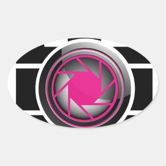 photography oval sticker