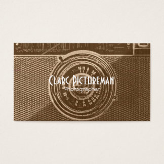 Photography photo camera business card