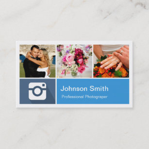 Photo collage business cards templates zazzle photography photo collage modern metro style business card colourmoves