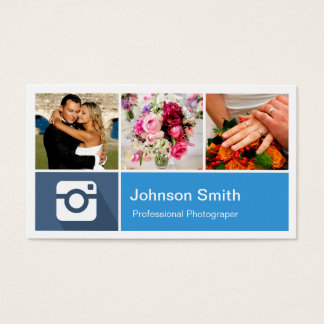 Photography Photo Collage Modern Metro Style Business Card