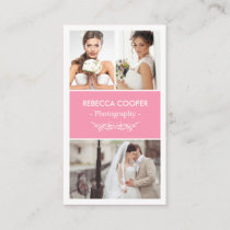 Photography Photo Showcase - Beauty Light Pink Business Card