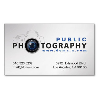 Photography Photographers Camera Lens Business Card Magnet