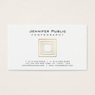Photography Plain Elegant Gold Look Photographer Business Card