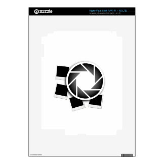 Photography Polaroid with aperture iPad 3 Decals