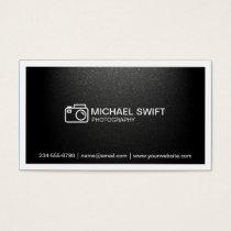 Photography Showcase Minimal Simple Matte Black Business Card