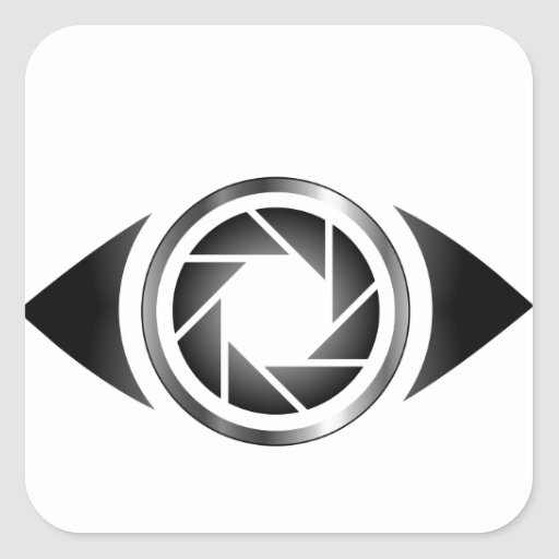 Photography shutter in a eye square stickers