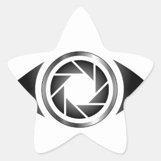 Photography shutter in a eye star sticker