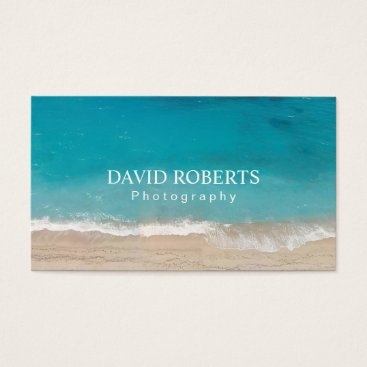 Beach Themed Photography Studio Professional Photographer Business Card