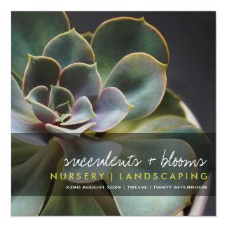 Photography Succulent Flower Garden Party Invite