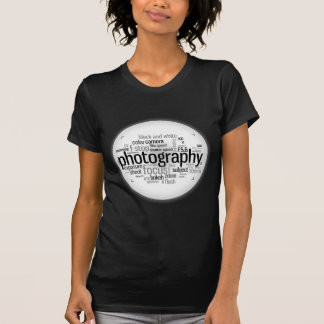 Photography Terms Word Collage T Shirt