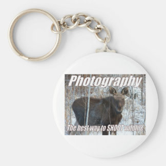Photography, the best way to SHOOT wildlife Keychain