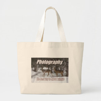 Photography, The best way to SHOOT wildlife Large Tote Bag