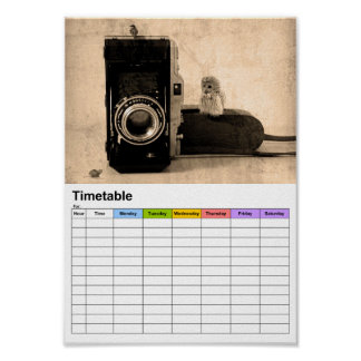 Photography / Timetable Poster
