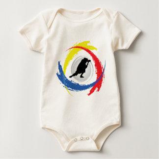 Photography Tricolor Emblem Baby Bodysuit