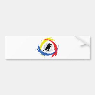 Photography Tricolor Emblem Bumper Sticker