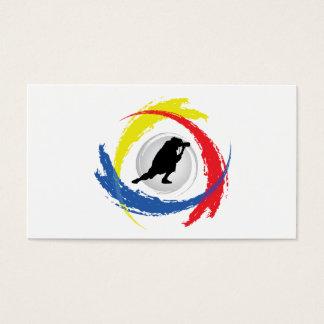 Photography Tricolor Emblem Business Card