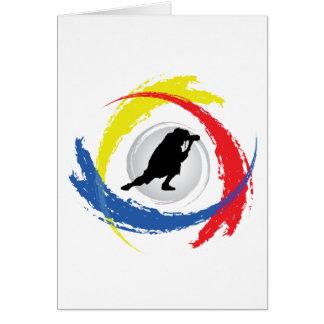 Photography Tricolor Emblem Card