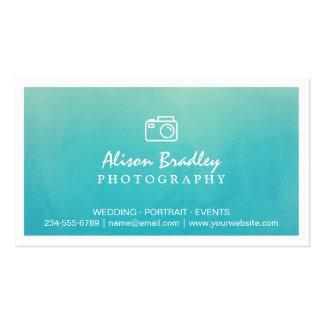 Photography Watercolor Aqua Green Photo Showcase Business Card