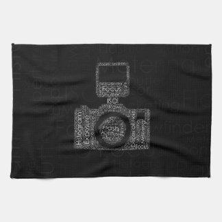 Photography Word Cloud Camera Shape Towel
