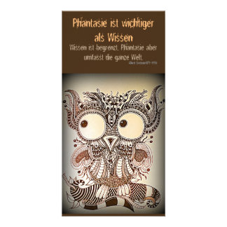 Photomap ZenZia owl owl with saying Card