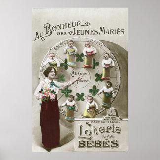 Photomontage del vintage: lotería del bebé (france póster