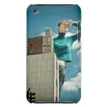 photomontage of young girl on city shot iPod touch cases