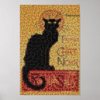 photomosaic-Tournée du Chat Noir Póster